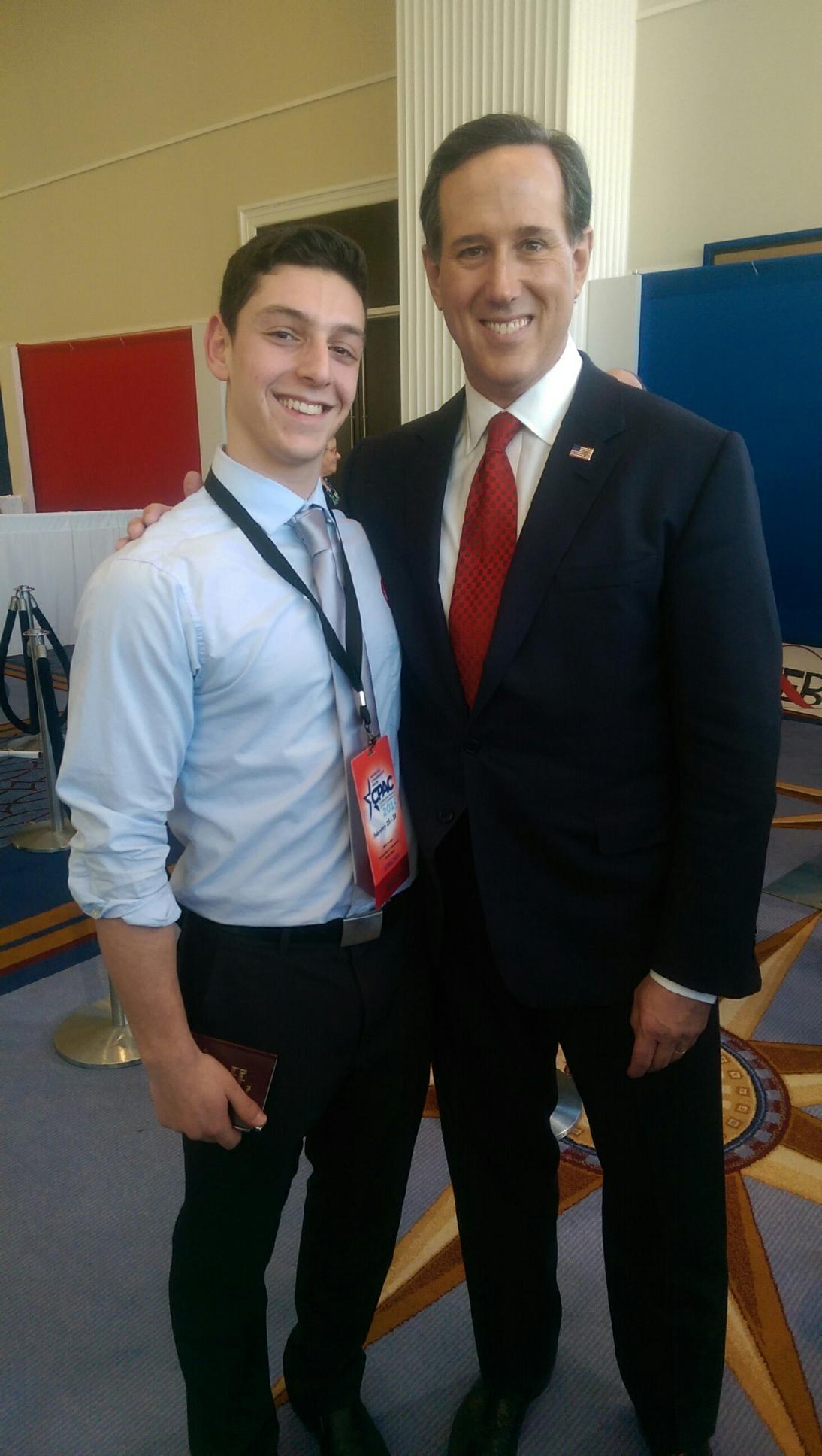 Dan with his hero, Rick Santorum
