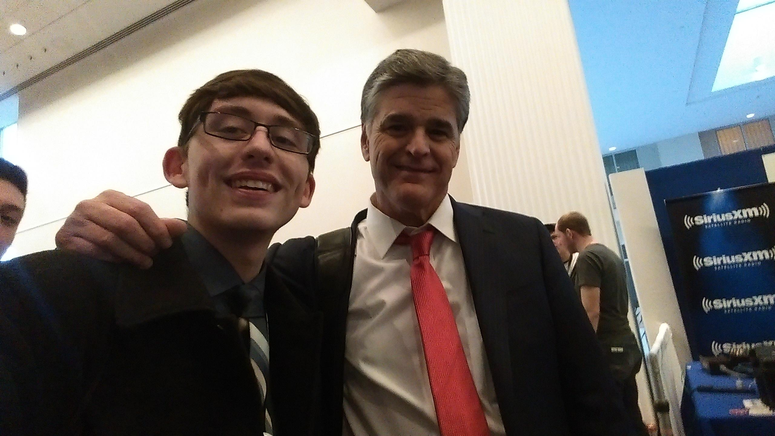 Matteo's 'Selfie' with Sean Hannity